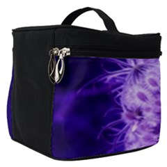 Dark Purple Closing Queen Annes Lace Make Up Travel Bag (small)