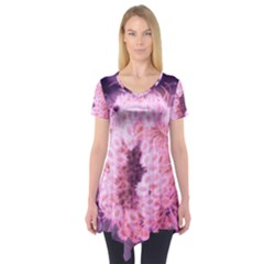 Pink Closing Queen Annes Lace Short Sleeve Tunic