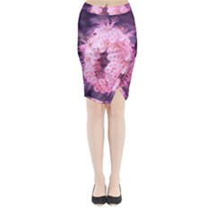 Pink Closing Queen Annes Lace Midi Wrap Pencil Skirt