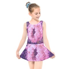 Pink Closing Queen Annes Lace Kids  Skater Dress Swimsuit by okhismakingart