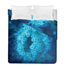 Blue Closing Queen Annes Lace Duvet Cover Double Side (full/ Double Size)