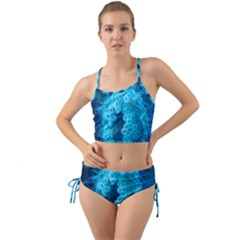 Blue Closing Queen Annes Lace Mini Tank Bikini Set