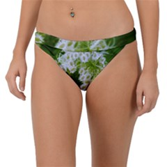 Green Closing Queen Annes Lace Band Bikini Bottom