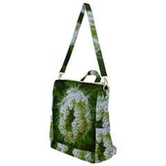 Green Closing Queen Annes Lace Crossbody Backpack