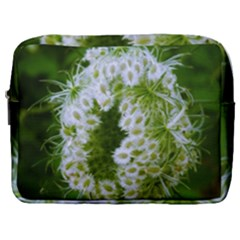 Green Closing Queen Annes Lace Make Up Pouch (large)