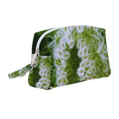 Green Closing Queen Annes Lace Wristlet Pouch Bag (medium)