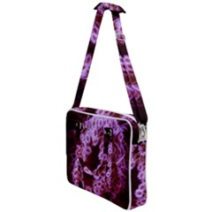Purple Closing Queen Annes Lace Cross Body Office Bag