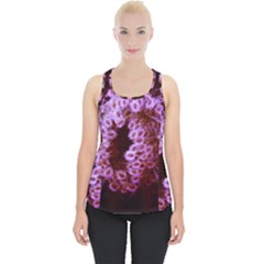 Purple Closing Queen Annes Lace Piece Up Tank Top