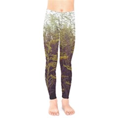 Purple And Yellow Goldenrod Kids  Legging