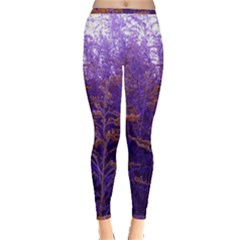 Yellow And Blue Goldenrod Inside Out Leggings