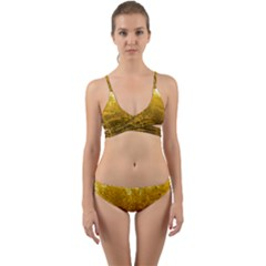Gold Goldenrod Wrap Around Bikini Set