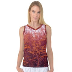 Red Goldenrod Women s Basketball Tank Top
