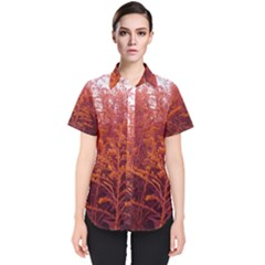 Red Goldenrod Women s Short Sleeve Shirt