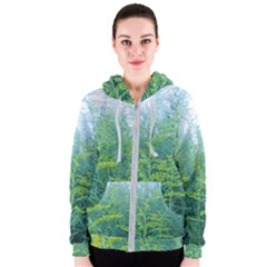 Turquoise Goldenrod Women s Zipper Hoodie