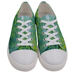 Turquoise Goldenrod Women s Low Top Canvas Sneakers