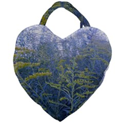 Blue Goldenrod Giant Heart Shaped Tote