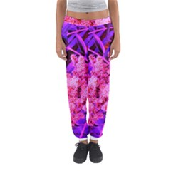 Pink And Blue Sideways Sumac Women s Jogger Sweatpants