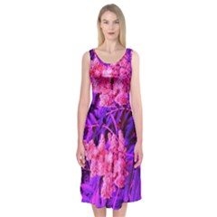 Pink And Blue Sideways Sumac Midi Sleeveless Dress