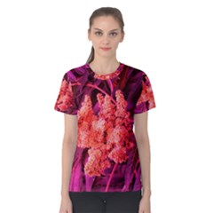 Pink Sideways Sumac Women s Cotton Tee
