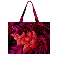 Pink Sideways Sumac Zipper Mini Tote Bag