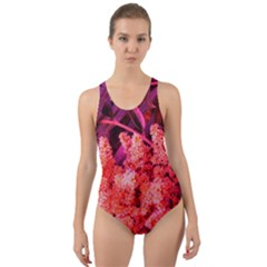 Pink Sideways Sumac Cut Out Back One Piece Swimsuit