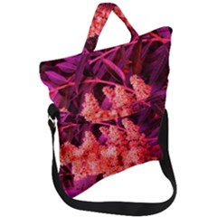 Pink Sideways Sumac Fold Over Handle Tote Bag
