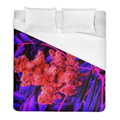 Red And Blue Sideways Sumac Duvet Cover (full/ Double Size)