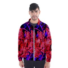 Red And Blue Sideways Sumac Men s Windbreaker