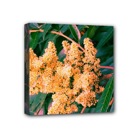 Green And Gold Sideways Sumac Mini Canvas 4  X 4  (stretched)