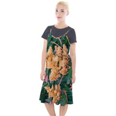 Green And Gold Sideways Sumac Camis Fishtail Dress