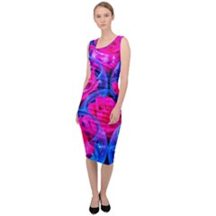 Rose Bowls Sleeveless Pencil Dress