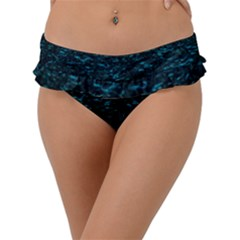 Dark Green Queen Anne s Lace Hillside Frill Bikini Bottom