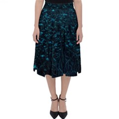 Dark Green Queen Anne s Lace Hillside Classic Midi Skirt