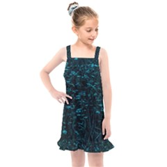 Dark Green Queen Anne s Lace Hillside Kids  Overall Dress