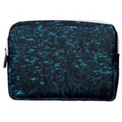 Dark Green Queen Anne s Lace Hillside Make Up Pouch (medium)