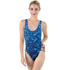 Blue Queen Anne s Lace Hillside High Leg Strappy Swimsuit