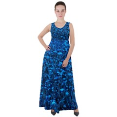 Blue Queen Anne s Lace Hillside Empire Waist Velour Maxi Dress