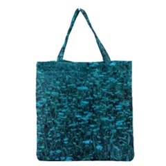Blue Green Queen Annes Lace Hillside Grocery Tote Bag
