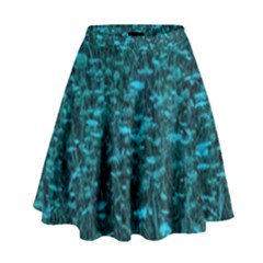 Blue Green Queen Annes Lace Hillside High Waist Skirt