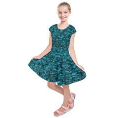 Blue Green Queen Annes Lace Hillside Kids  Short Sleeve Dress