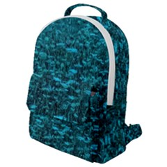 Blue Green Queen Annes Lace Hillside Flap Pocket Backpack (small)