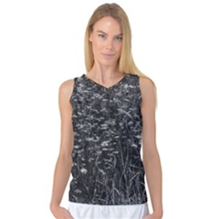 Black And White Queen Anne s Lace Hillside Women s Basketball Tank Top