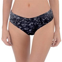 Black And White Queen Anne s Lace Hillside Reversible Classic Bikini Bottoms