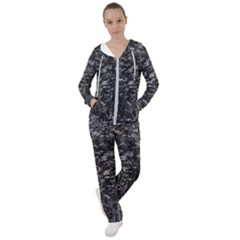 Black And White Queen Anne s Lace Hillside Women s Tracksuit