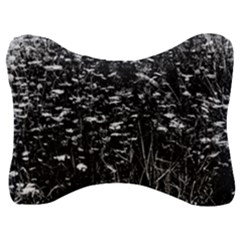 High Contrast Black And White Queen Anne s Lace Hillside Velour Seat Head Rest Cushion