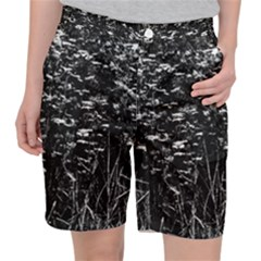 High Contrast Black And White Queen Anne s Lace Hillside Pocket Shorts