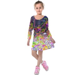 Magic Butterfly Kids  Long Sleeve Velvet Dress
