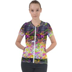 Magic Butterfly Short Sleeve Zip Up Jacket