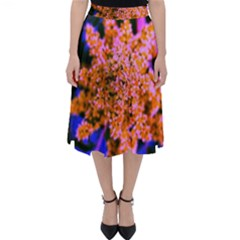 Yellow, Pink, And Blue Sumac Bloom Classic Midi Skirt