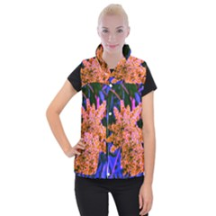 Yellow, Pink, And Blue Sumac Bloom Women s Button Up Vest